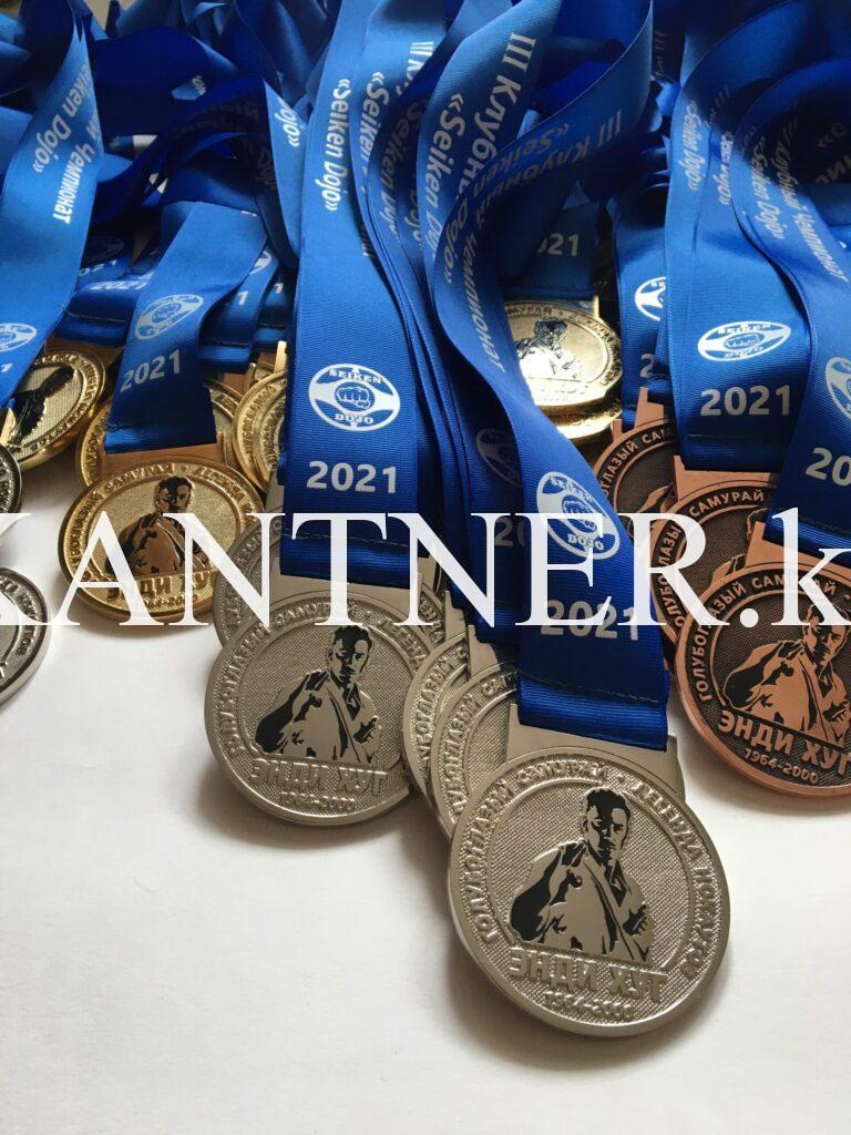 Медаль спортивная/медаль на ленте на заказ в Алматы